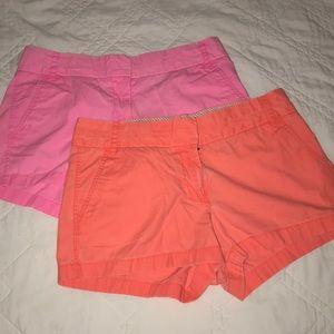 J.Crew Chino Broken-In Shorts Bundle Sz 8